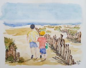 Chemin plage
